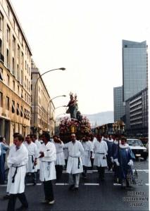 Madonna della Guardia in processione
